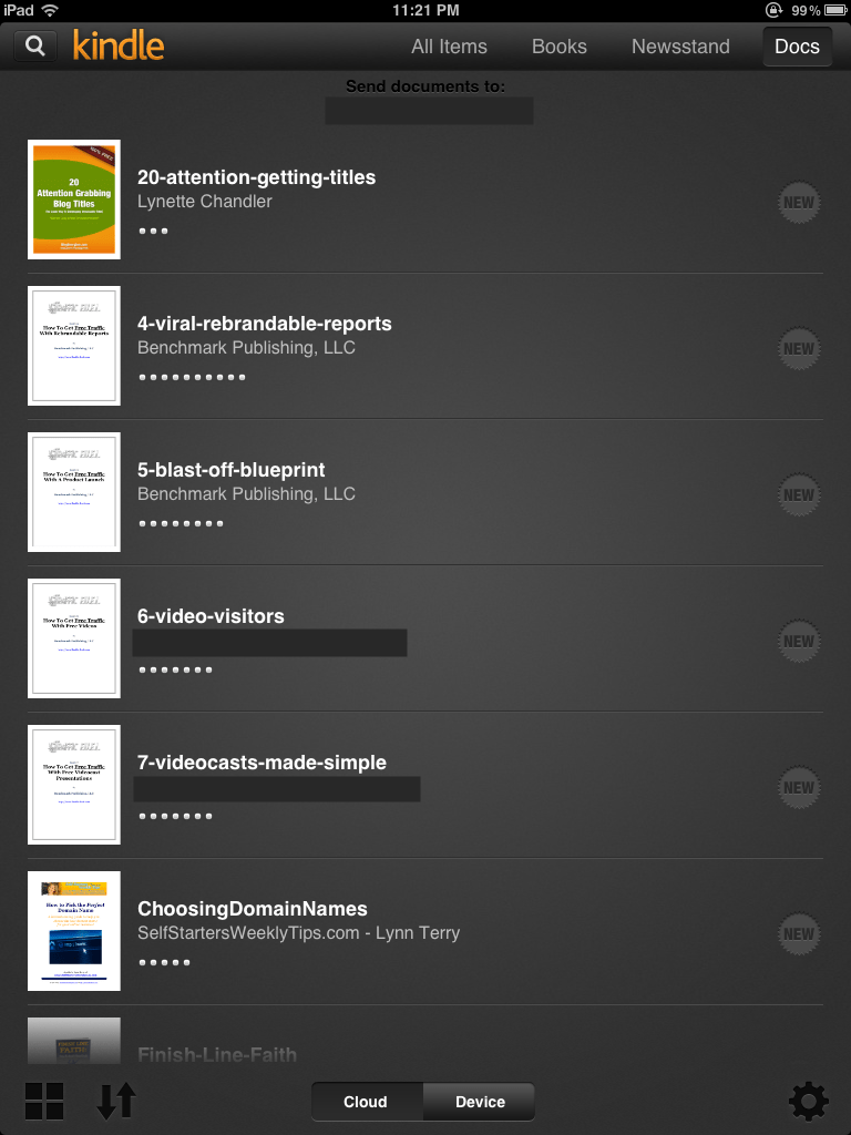 An actual screen shot of the Kindle app on my iPad