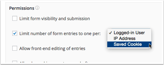 Limit number of entries