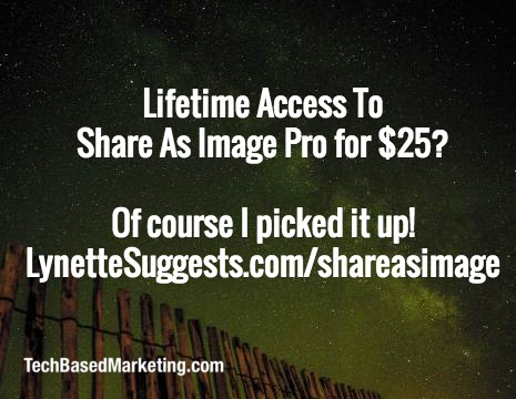 Lifetime ShareAsImage Deal