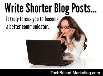 Write Shorter Blog Posts