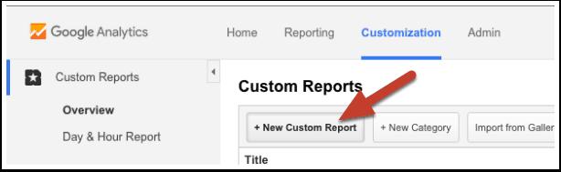 Create new custom report