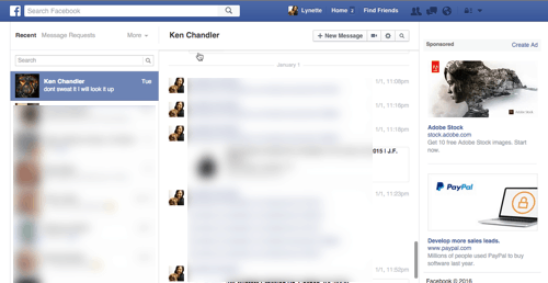 Facebook Messages Screen