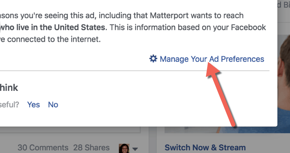 FB Ad Preferences