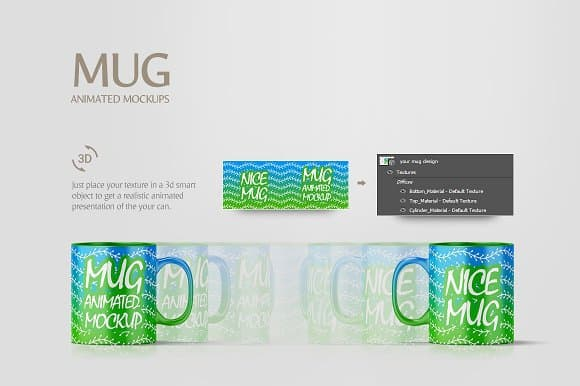 Animated mug mockup