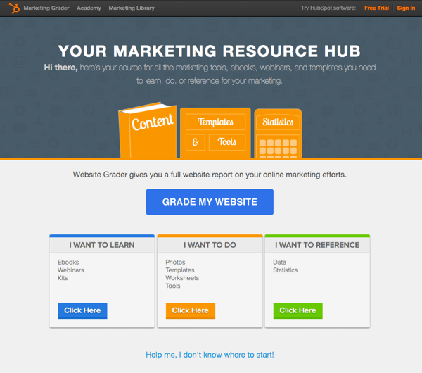 Hubspot marketing resource hub