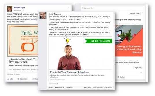 Saved Facebook Adverts