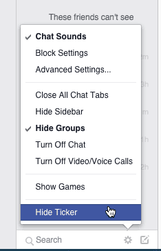 Hide Facebook Chat Ticker
