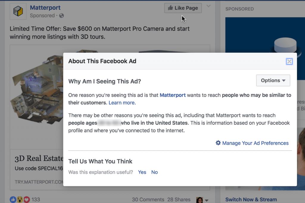 FB Ad Lookalike Target