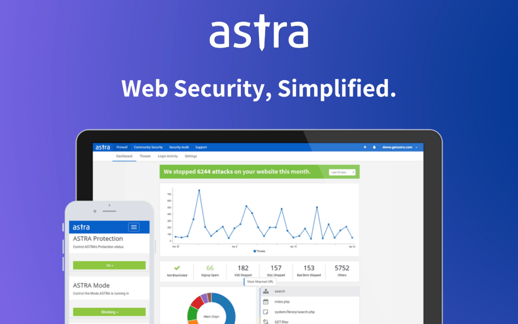 Astra screenshot